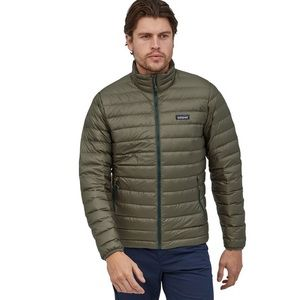 Patagonia goose down jacket in olive size XL